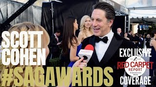 Scott Cohen #TheAmericans interviewed at 25th Screen Actors Guild Awards Silver Carpet #SAGAwards Video