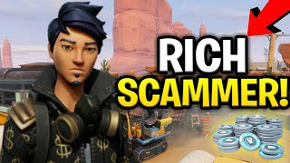 Dumb Rich Scammer Loses Loads Of Guns! (Scammer Gets Scammed) Fortnite Save The World