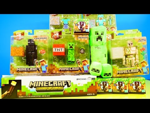 Thumbnail: Minecraft Toys Super Unboxing Giant Light Up Torch Blind Box Grass Series 1 By Disney Cars Toy Club