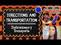 DIRECTIONS AND TRANSPORTATION   CURSO DE INGLÉS GRATIS COMPLETO