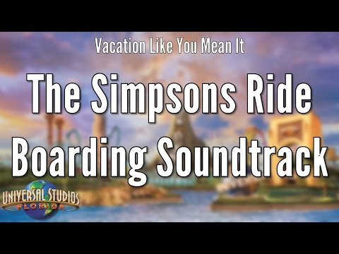 Universal Studios Florida - The Simpsons Ride Boarding Soundtrack