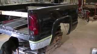 2000 Silverado z71 Bed Rust Removal and Duplicolor Bedliner (3 of 5)