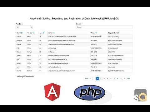 AngularJS Sorting, Searching and Pagination of Data Table using PHP & MySQL