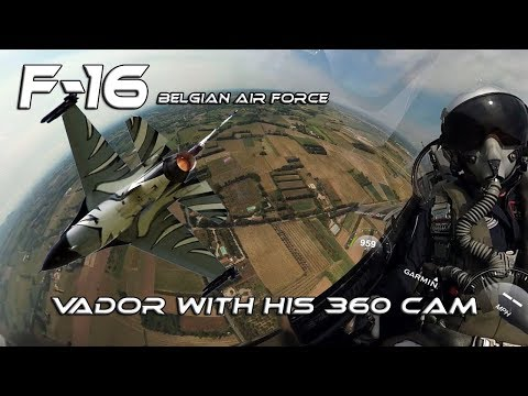 F16 4K UHD  F-16 Belgian Air Force Solo Display Vador with his 360 Cam