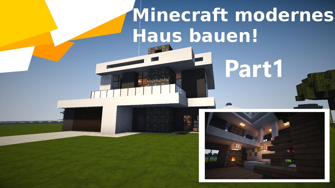 Minecraft Modernes HausVilla Bauen Timelapse Part YouTube - Minecraft modernes haus bauen part 1