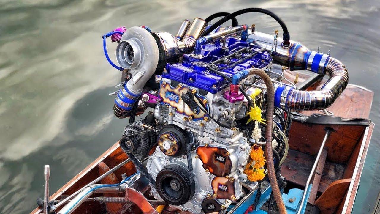 เรือซิ่งดีเซลคอมม่อนเรลเทอร์โบ ระดับหัวแถวประเทศไทย Diesel Turbo Engine Longtail boat speed 200km/h