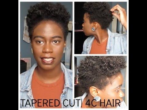 tapered cut 4c natural hair