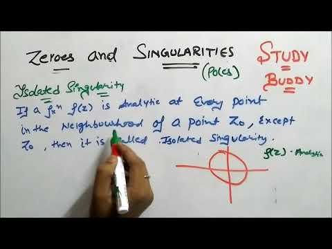 Zeros and Singularity ( with Poles ) : Complex Plane