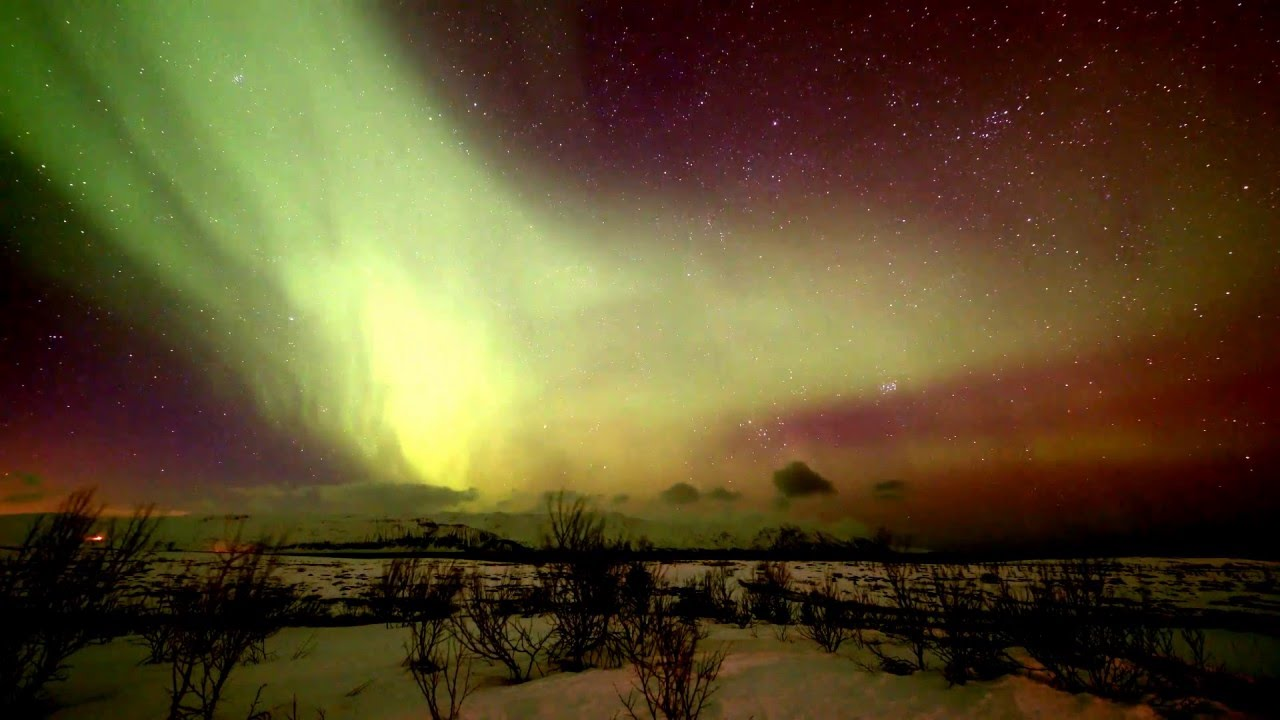 Blowing Northern Lights For A Happy Birthday