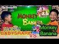 ES KRIM BABY SHARK VS MONKEY BANANA - Ice cream WALLS - Paddle Pop