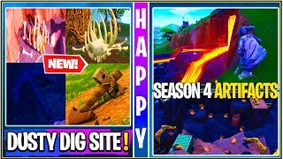 *NEW* Fortnite: Dusty Dig Site Finished Leak, Season 4 Artifacts, Discovery Skin STUCK!
