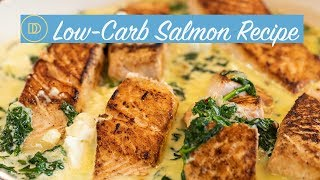 Salmon in a Creamy Spinach & Feta Sauce/LOW-CARB Recipe