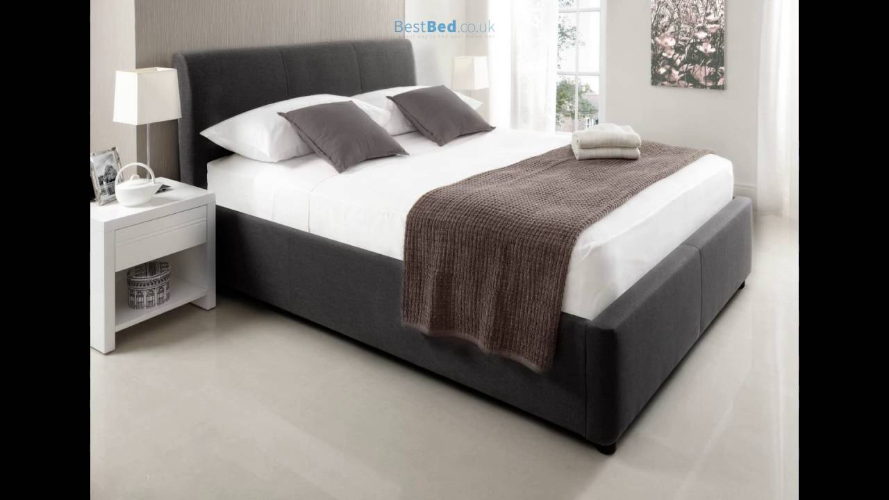 Serenity Upholstered Ottoman Storage Bed New Grey YouTube