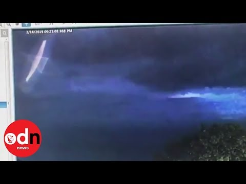 CCTV footage which shows bright 'UFO' in Australian sky goes viral