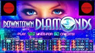 Our 1st Look @ DOWNTOWN DIAMONDS w/Free Spin Bonus ~ Live Slot Play @ San Manuel