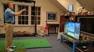 Pebble Beach Golf Simulator with Cisco Telepresence and Golf Instructor Michael Breed