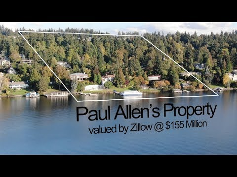 Billionaire Microsoft-Cofounder Paul Allen's House on Mercer Island Shot with Mavic 2 Zoom