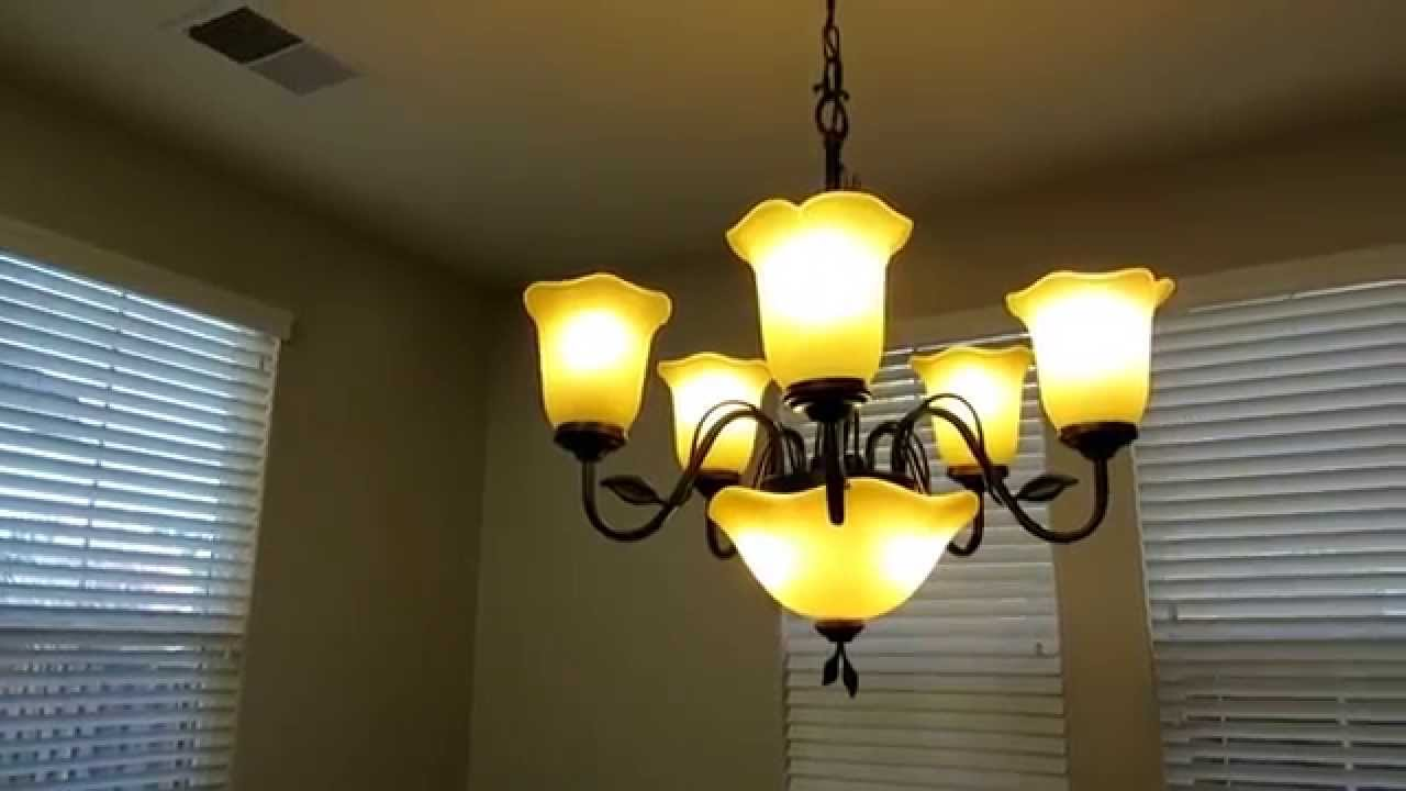 Review of the allen roth 5 light chandelier with uplight light review of the allen roth 5 light chandelier with uplight light 0137794 youtube mozeypictures Images