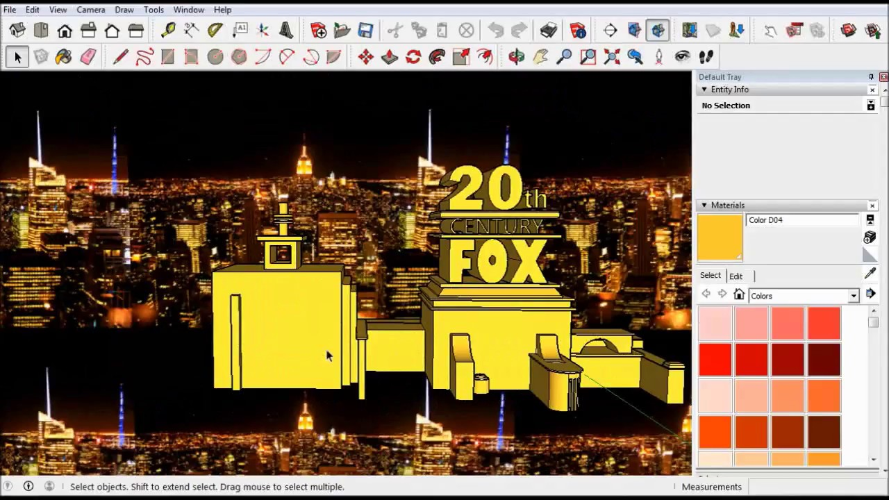 Sketchup 20th Century Fox Logo Çizimi - YouTube