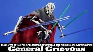 Star Wars Black Series General Grievous Hasbro Action Figure Review @dorksidetoys