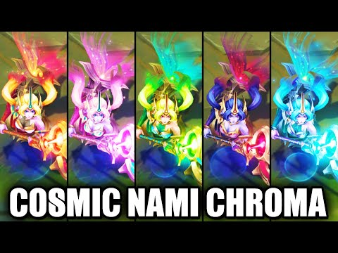 All Cosmic Destiny Nami Chroma Skins Spotlight (League of Legends)