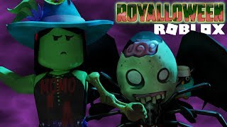 Royalloween with temsamymoro updating ROyal High Halloween in roblox in Spanish