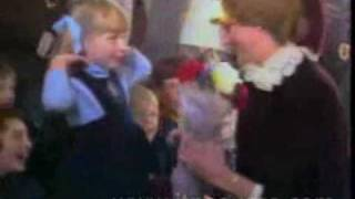 Footage of Princess Diana with Children