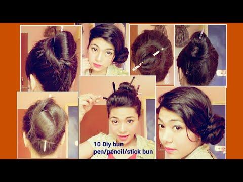 Top 10 Stick Bun Hairstyles Bun With Bun Stick Pencil Bun Chinese Bun