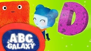 learning letters d   the letters of the alphabet   learn alphabet videos for kids   abc galaxy