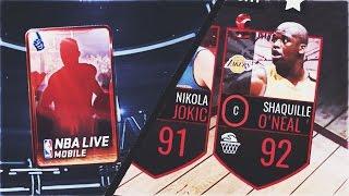 ELITE FAN FAVORITE PACK! + 92 JUGGERNAUT SHAQ w/ POSTERIZER ABILITY GAMEPLAY! - NBA Live Mobile 16