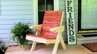DIY Patio Chair - How to Build a Outdoor Chair