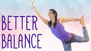 Yoga for Balance, Flexibility, Strong Legs & Glutes ♥ 25 Minute Yoga Class, At Home Workout