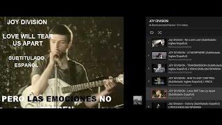 JOY DIVISION - Love Will Tear Us Apart (Subtitulado Español)