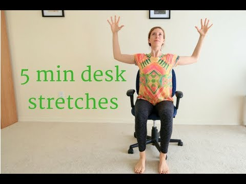 yoga at your desk 5 minute seated stretches  youtube