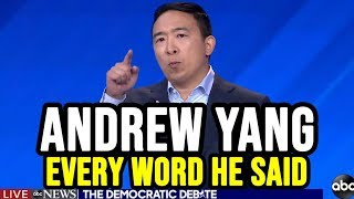 Andrew Yang 3rd Democratic Debate Full Highlights | Every Word He Said