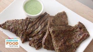 Cilantro-Buttermilk Skirt Steak - Everyday Food with Sarah Carey