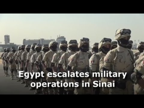 Egypt escalates military operations in Sinai