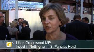 Lilian Greenwod, MP, at Invest in Nottingham Day London 2011