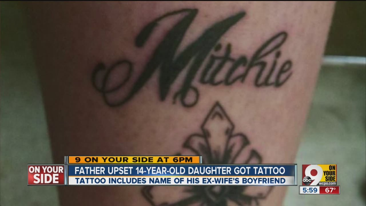 f97fd792c Dad angry after 14-year-old daughter gets tattoo, but that's not the worst  part - YouTube