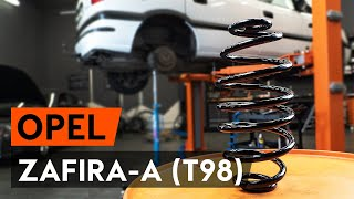 How to change Brake disc set ZAFIRA A (F75_) - step-by-step video manual