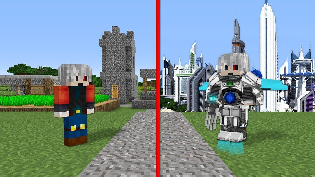 1$ GELİŞMİŞ KÖY VS 1000$ GELİŞMİŞ KÖY - Minecraft