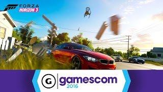 Forza Horizon 3 - Lambo and Jeep Race Gameplay Gamescom 2016