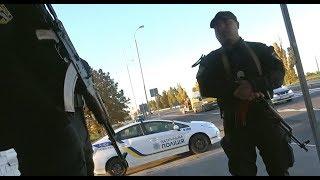Батальон полиции особого назначения ловит за свет с автоматами