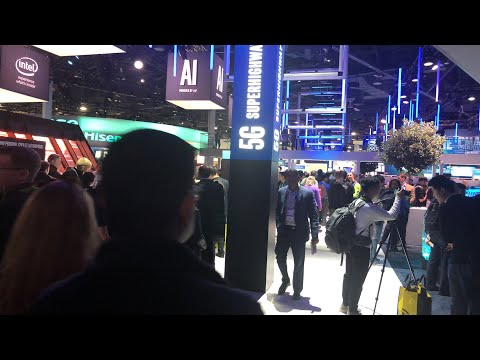 CES 2018 Central Hall After Power Outage #CES2018