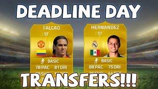 MAN UNITED FALCAO & MADRID HERNANDEZ!! - FIFA 15 Deadline Day Transfers - Fifa 15 Player Predictions