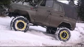 Uaz 4x4 off road special test