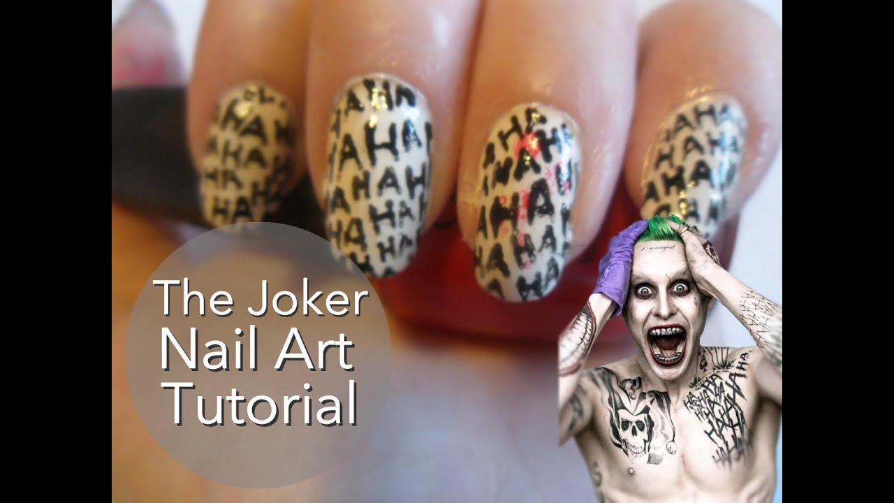 Suicide Squad Joker Nail Art Tutorial - YouTube