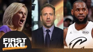 Max on Fox News host criticism of LeBron James: I'm not surprised by it | First Take | ESPN thumbnail