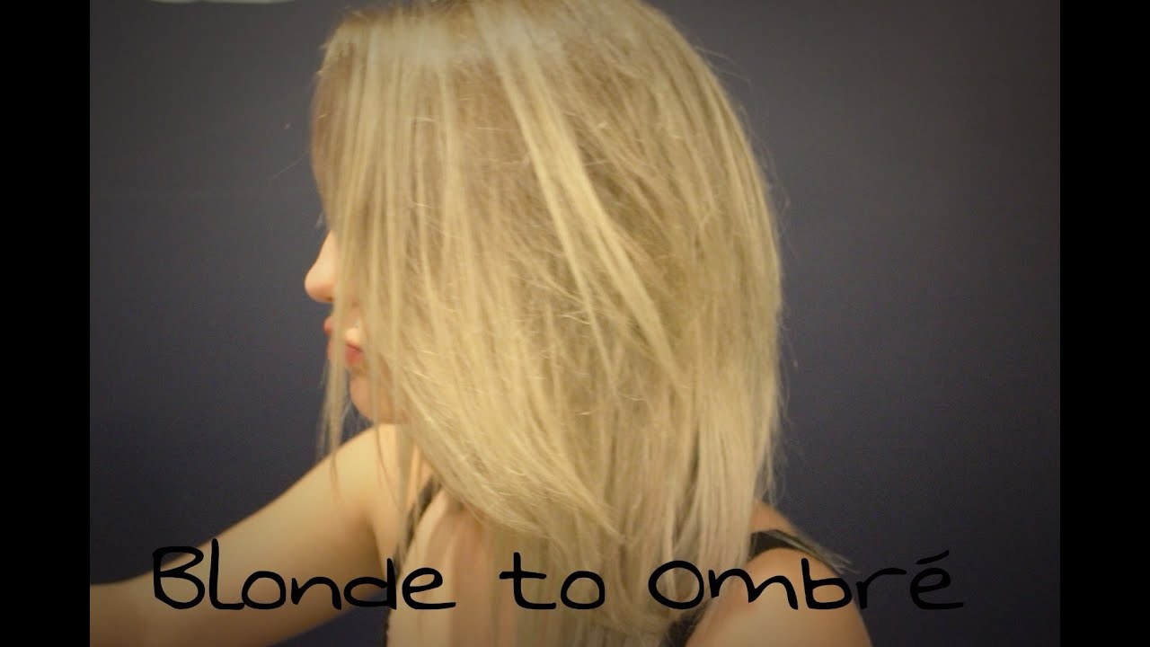 Go from blonde to ombre at home youtube urmus Image collections