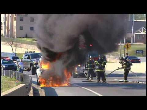 Car erupts in flames [Delaware Online News Video]